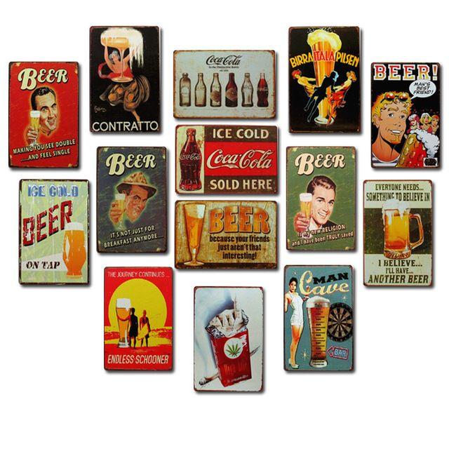 BIER Drinken Retro Vintage metalen tin borden schilderen home decor poster art craft Bar Party Decoratieve Ijzer Schilderen 20X30 cm