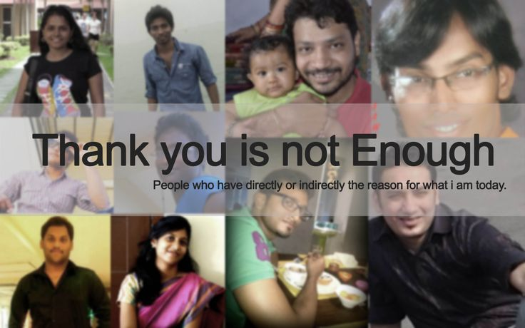 a thank you note by Vaibhav Sisinty