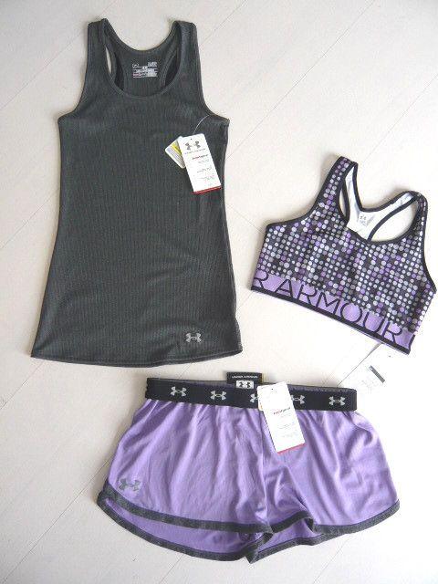 New Under Armour Womens Shorts DFO Nutech Tank Top Bra Bra Top Set