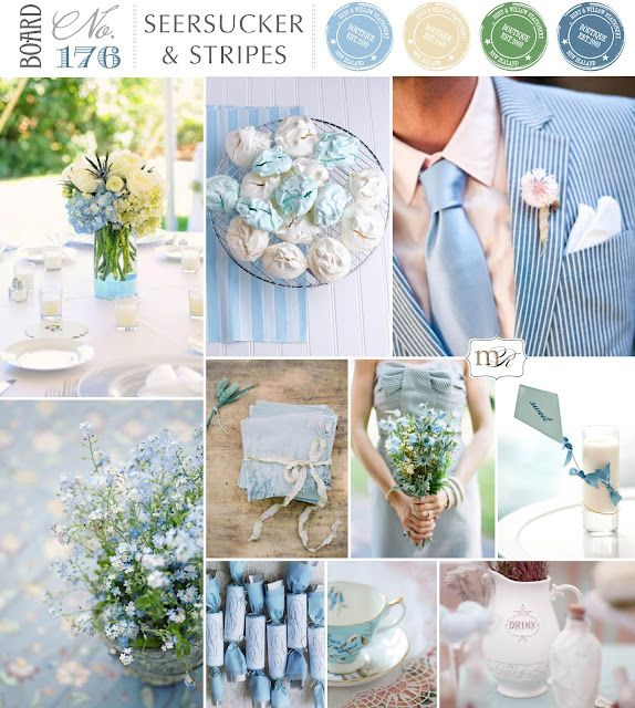 seersucker ans stripes wedding#