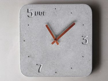 concrete clock idea for nixie clock...