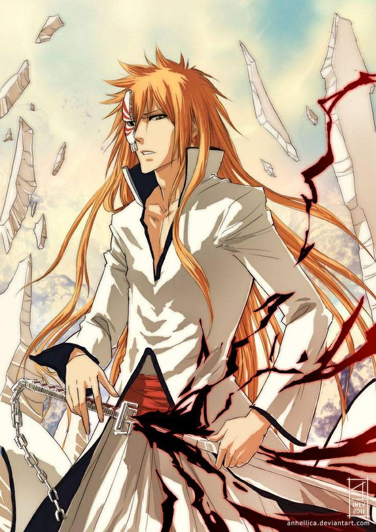 Anime/manga: Bleach Character: Hollow Ichigo, he looks so cool!
