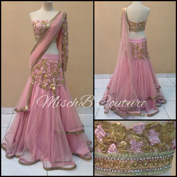 Blush Crush lehenga by MischB Couture, indianwear, indian designer couture
