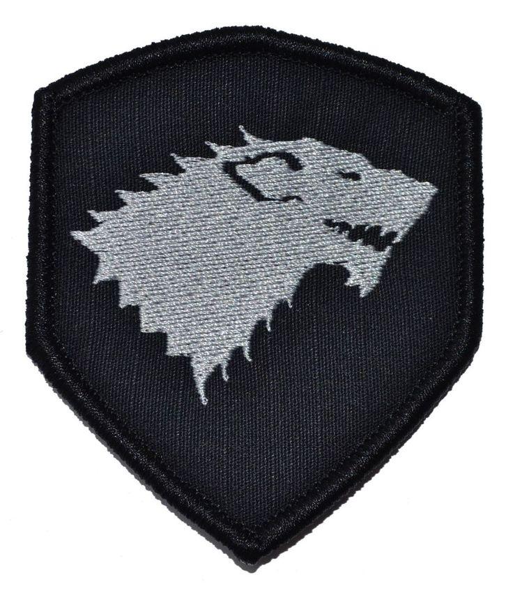 Tactical Gear Junkie - GoT Stark Wolf Emblem - Shield Style Patch 3x2.5, $4.99 (http://www.tacticalgearjunkie.com/got-stark-wolf-emblem-shield-style-patch-3x2-5/)