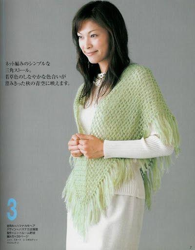 World crochet: Crocheted scarf 12