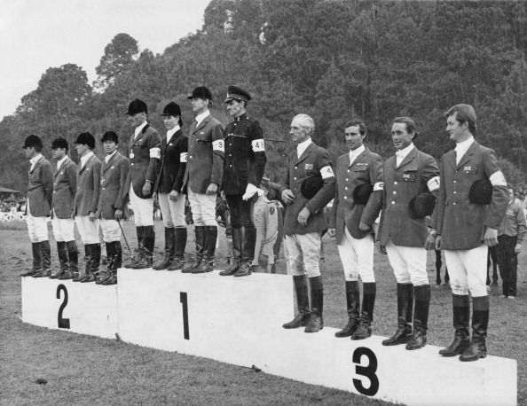 Mixed team three-day eventing at the Mexico City Olympics Team GB won gold