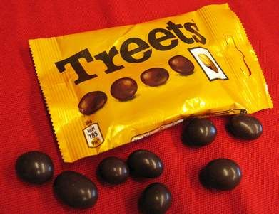 Treets, melt in your mouth not in your hands.