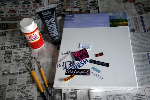 DIY: Collage Art ( thinking of using my old Game Informers- squeee!)