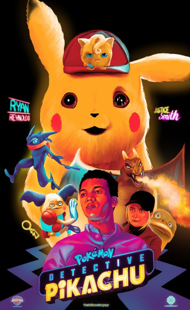 Pokemon detective pikachu with Sun and moon posters set of 4