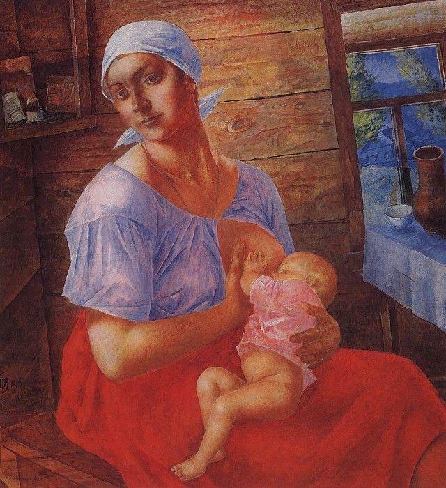 Мать. 1915. Петров-Водкин Кузьма Сергеевич (1878-1939)