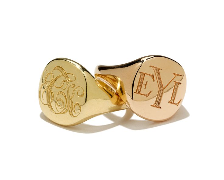 The Tomboy Gift Guide - David Yurman gold rings, $1,850 each, davidyurman.com.