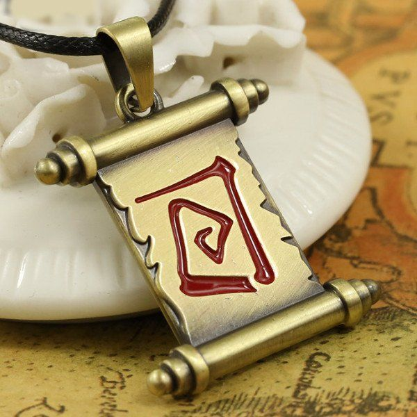 Buy Dota 2 Town Portal Scroll Pendant Necklace at Pica Collection for only $ 10.00