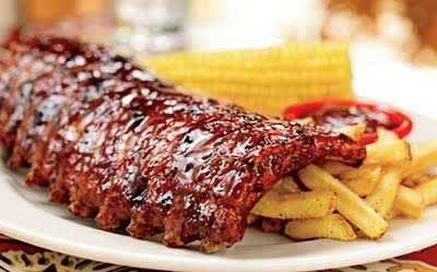 Chili's Grilled Babyback Ribs with Chili's Original BBQ Sauce or Chili's Shiner Bock BBQ Sauce or Chili's Memphis Rib Rub