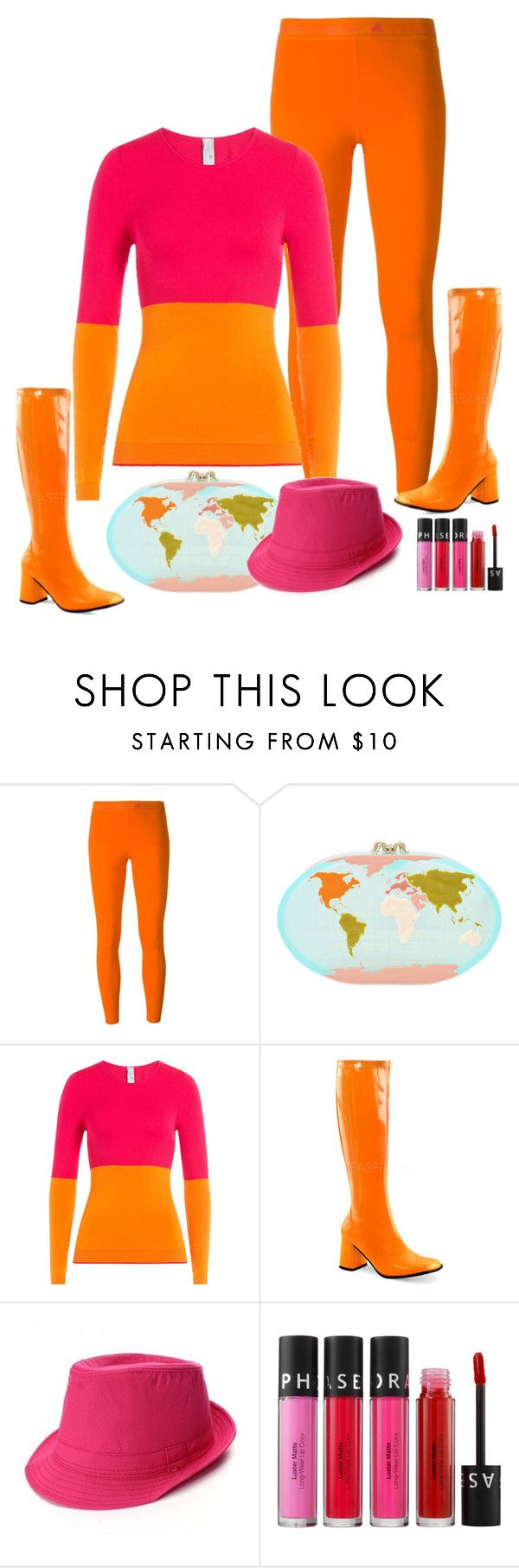 """""""Charlotte Olympia Columbus Clutch"""" by ann-kelley14 on Polyvore featuring adidas, Charlotte Olympia, Funtasma and Sephora Collection"""