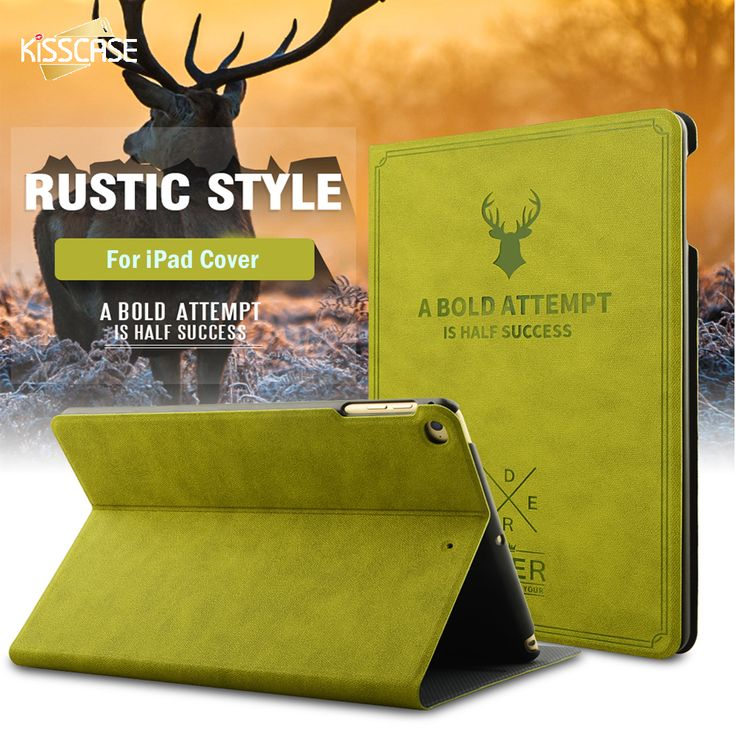 KISSCASE Retro Deer Head Skin Case For i Pad Mini  2 3 4 Smart Sleep Pouch For Apple i Pad 5 6 Air 2 Protector For i Pad Pro 9.7 #Affiliate