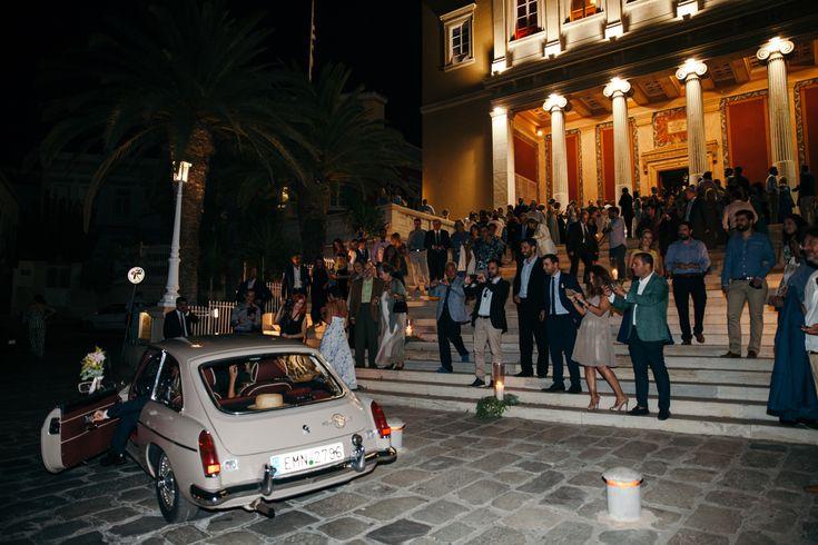 lafete, Syros, Cyclades, vintage car Stavrakopoulos