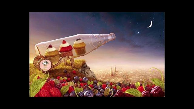 AO STUDIO - Munch Vimto Cupcakes Retouching - CGI Making of by AO STUDIO. Making of Munch Vimto Cupcakes Retouching - CGI