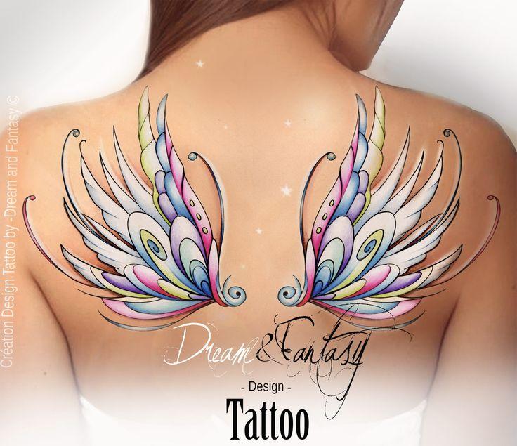 Les 25 meilleures id es de la cat gorie tatouage de f e sur pinterest tatouage pixie mod les - Tatouage ailes dans le dos ...