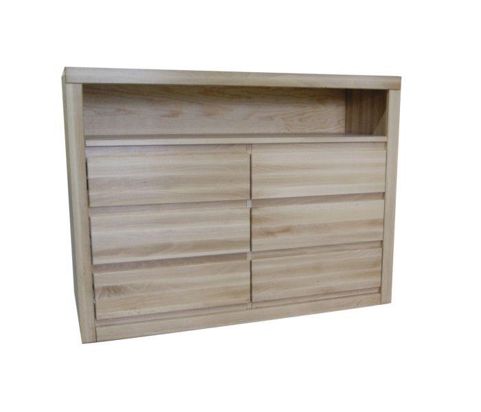 #komoda #buk Komoda bukowa [n41] Meble Drewniane - meble sosnowe producent, łóżka, komody, witryny