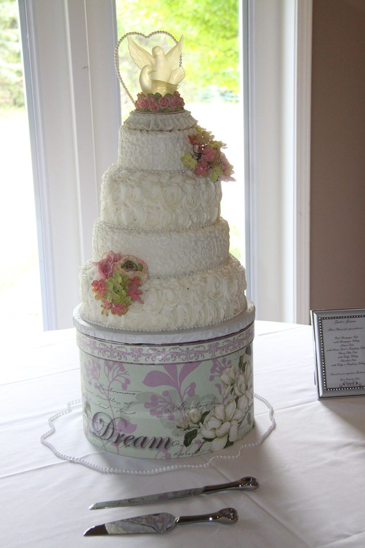 how big should a wedding cake stand be for my daughters wedding cake we decided to use a hat box 15359