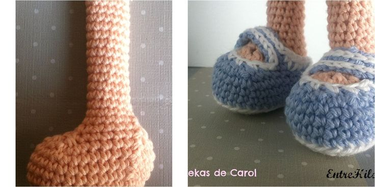 Si estáis haciendo una muñeca a crochet, ¡os vendrá bien saber cómo hacer los pies de manera fácil!                                                                                                                                                                                 Más