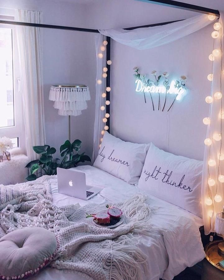 Globe Lights in 2020 | Cute bedroom ideas, Stylish bedroom ...