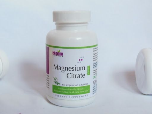 How does magnesium citrate relieve constipation?