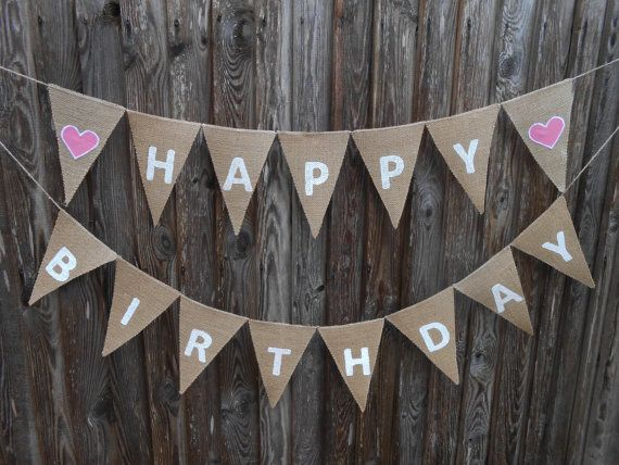Happy Birthday Banner Happy Birthday Sign 1 st by ViViCreative, $34.00