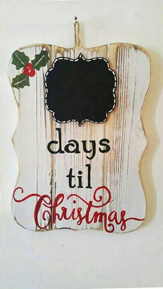 Rustic Christmas Decoration, Christmas Countdown, Chalkboard Sign, Days til Christmas, Christmas Home Decor, Christmas Gift, Christmas Kids