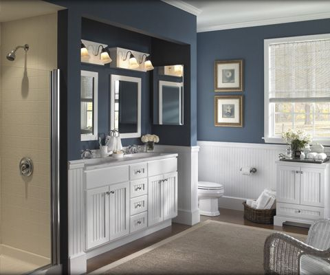 beautifulBathroom Vanities, Bath Vanities, Colors Palettes, Bathroom Ideas, White Bathroom, Painting Colors, Small Spaces, Kitchens Cabinets, Bathroom Cabinets