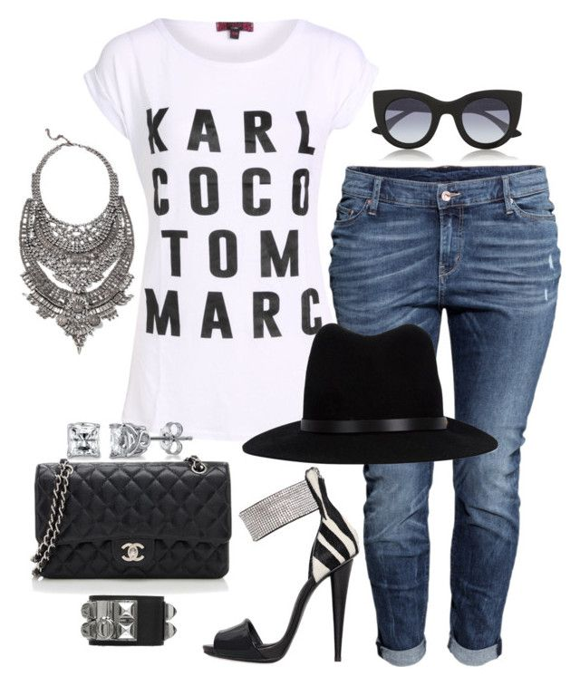Untitled #494 by fashionkill21 on Polyvore featuring H&M, Giuseppe Zanotti, Chanel, DYLANLEX, BERRICLE, rag & bone, Thierry Lasry and Hermès