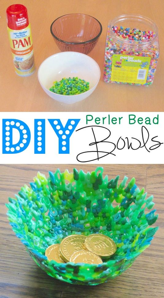 DIY Perler Bead Bowls -- 29 clever crafts for kids that parents will actually enjoy doing, too!