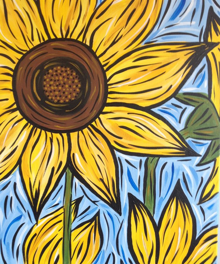 Sunflower Painting, by Jessica Byrd, owner if Sunflower Art Shack.
