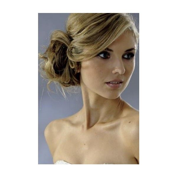 Wedding hair buns ❤ liked on Polyvore