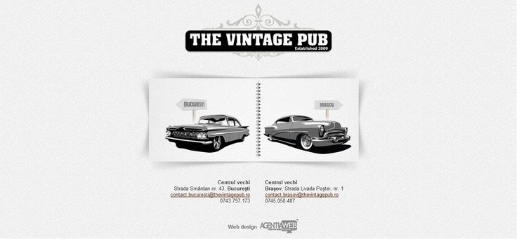 Web design The Vintage Pub http://thevintagepub.ro/
