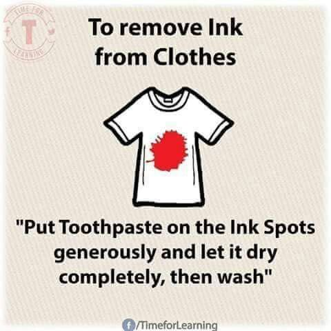 Ink removal