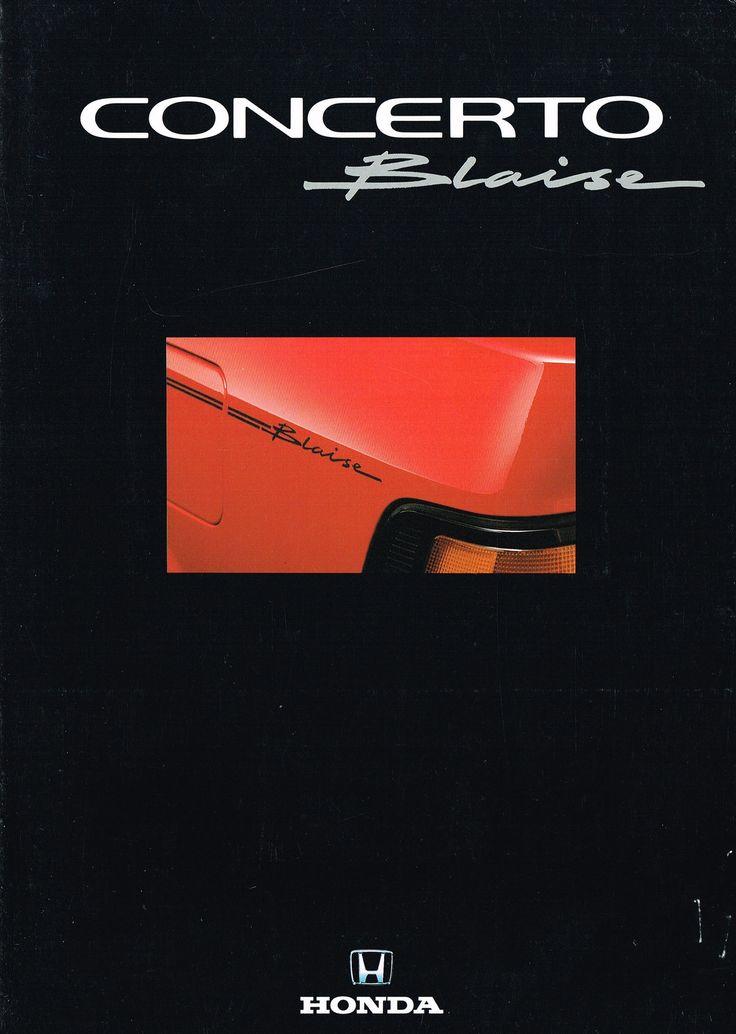 Honda Concerto Blaise SE UK Brochure 1992