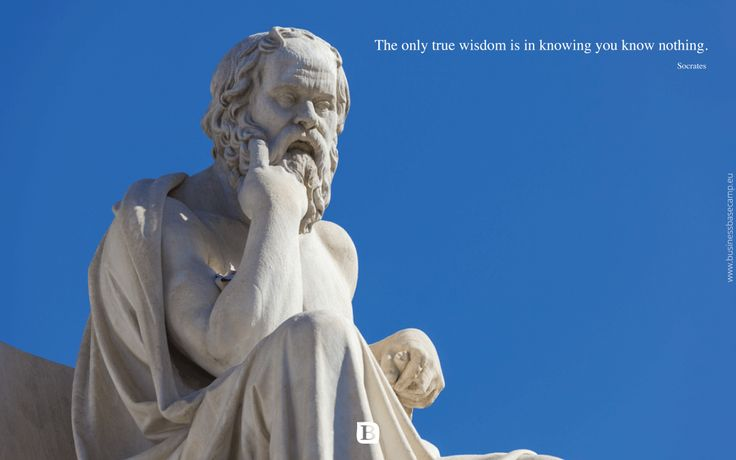 """The only true wisdom is in knowing you know nothing."" — Socrates  