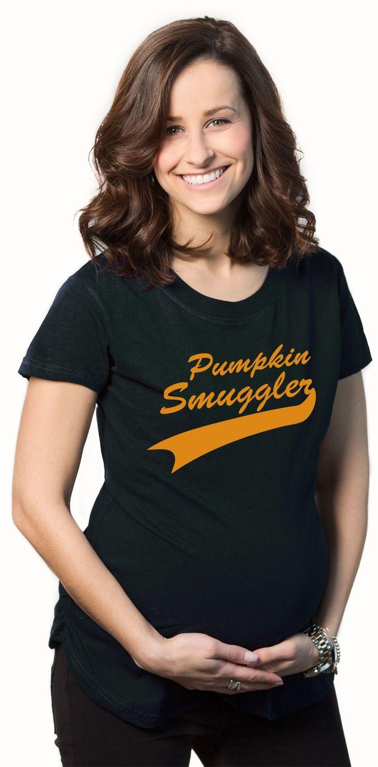 down coats for women canada Pumpkin Smuggler Maternity Shirt   Funny Pregnancy Shirt