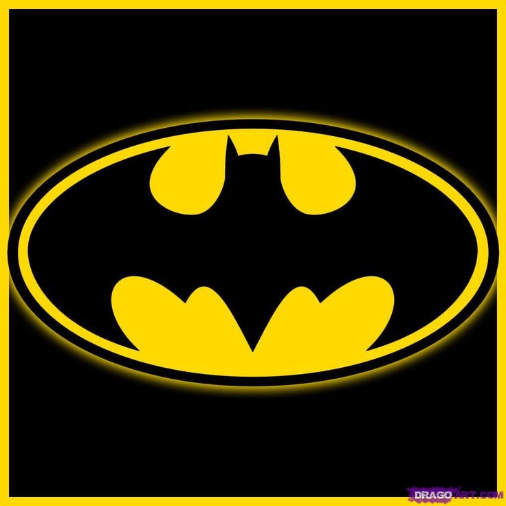 how to draw batman logo
