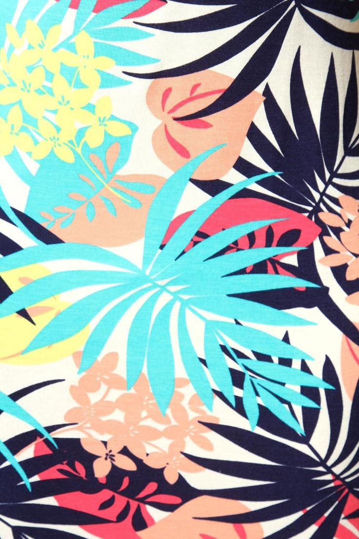 Julie Tropical Print Vest Dress