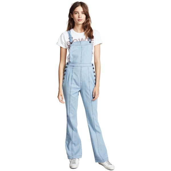 cupcakes and cashmere Meliani Overalls (1,025 HKD) ❤ liked on Polyvore featuring jumpsuits, denim, overalls jumpsuit, blue overalls, cupcakes and cashmere, bib overalls and blue jumpsuit