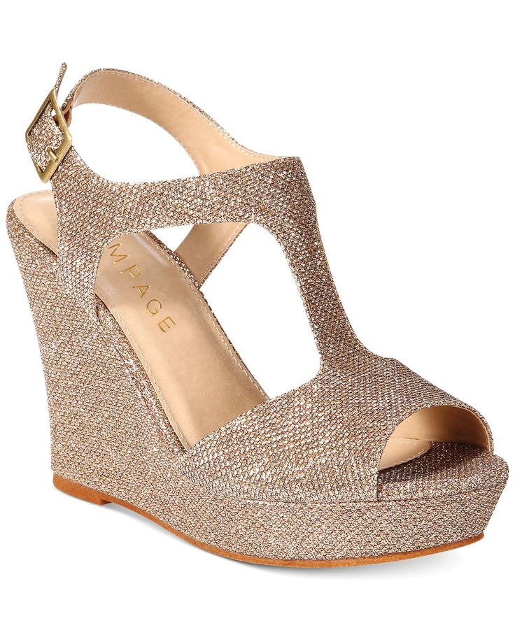 Rampage Candelas T-Strap Platform Wedge Sandals - Juniors' Shoes - Shoes - Macy's