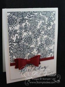 Simple Elegance using Something Lacy Stamp Set with Deb Valder