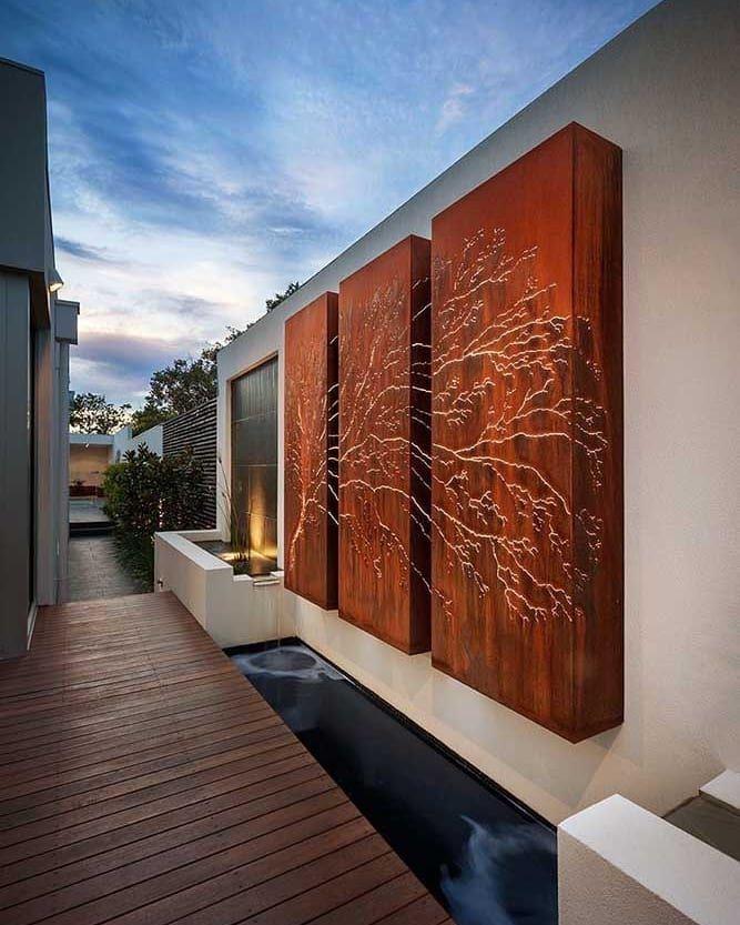 New The 10 Best Home Decor With Pictures Painel Decorativo Em Aco Corten Para A Area Externa Da Cas Contemporary Garden Exterior Design Landscape Design
