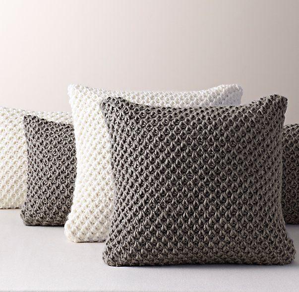 Textural Knit Pillow Cover & Insert