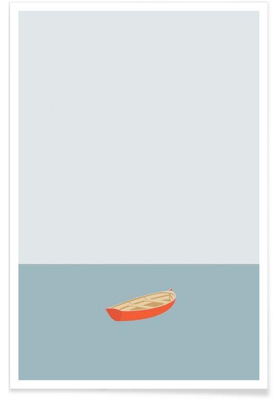 Ocaen Svømmere Boat als Premium Poster von Swen Swensøn | JUNIQE