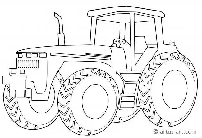 bauernhof traktor ausmalbild » gratis ausdrucken