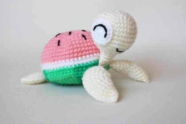 receita-eurofios-melancia-decoracao | Alimentos de crochê, Modelos ... | 433x650