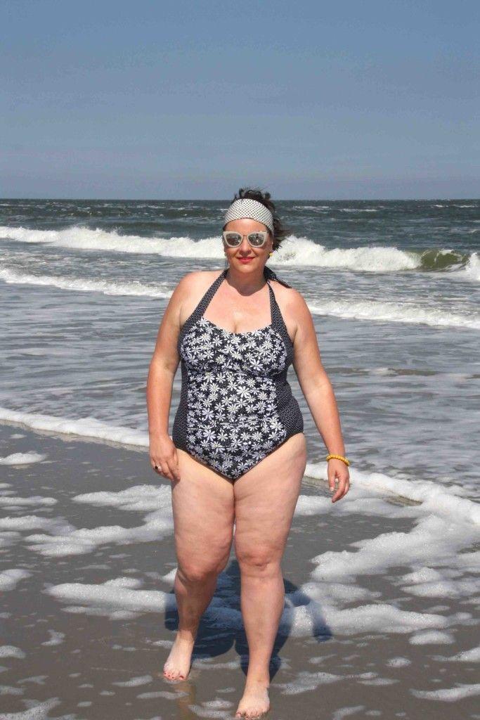 Paprika, badpak, beach wear, plus size, grote maten, strand